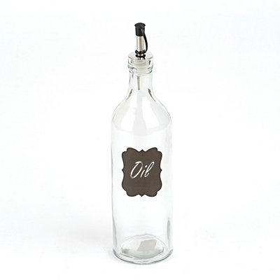 Chalkboard Label Glass Oil Bottle