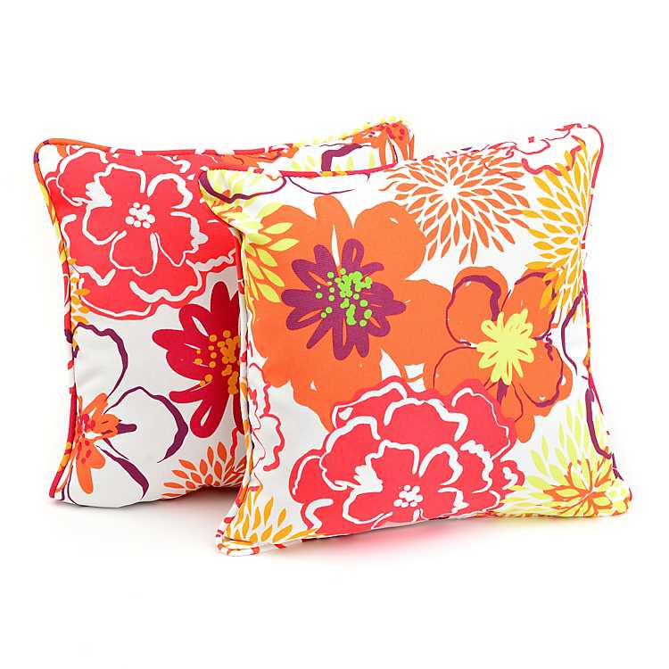 Floral Fantasy Outdoor Accent Pillows, Set of 2 Kirklands