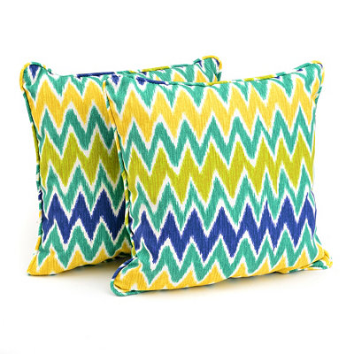Cool Chevron Outdoor Accent Pillows, Set of 2