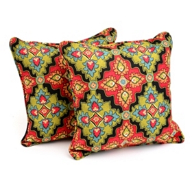 Medallion Outdoor Accent Pillows, Set of 2