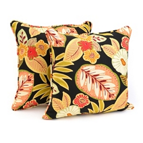 Tropical Outdoor Accent Pillows, Set of 2