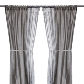 Empire Gray Curtain Panel Set