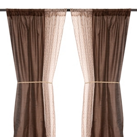Empire Chocolate Curtain Panel Set