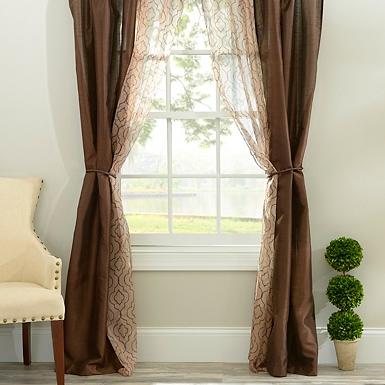 Charlize Taupe 6-piece Curtain Panel Set | Kirklands
