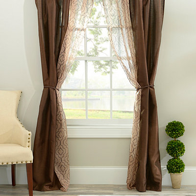 Empire Chocolate 6-piece Curtain Panel Set, 84 in.
