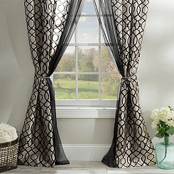Charlize Ivory 6-piece Curtain Panel Set