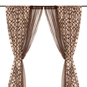 Charlize Taupe Curtain Panel Set