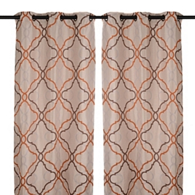 Grand Manor Spice Curtain Panel Set, 84 in.