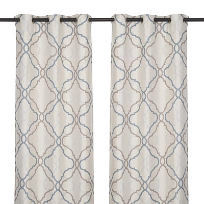 Grand Manor Gray Curtain Panel Set, 84 in.