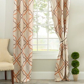 Grand Manor Spice Curtain Panel Set, 96 in