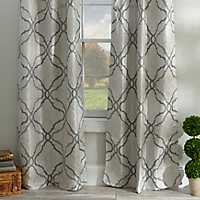 Grand Manor Gray Curtain Panel Set, 96 in.