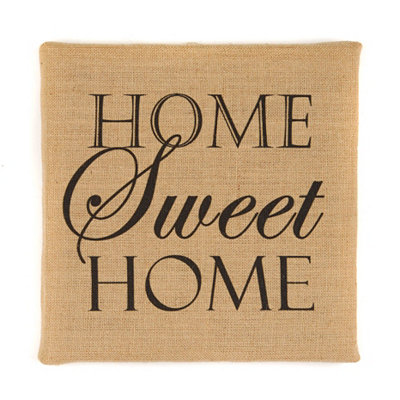 Home Sweet Home Burlap Canvas