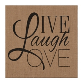 Live Love Laugh Burlap Canvas
