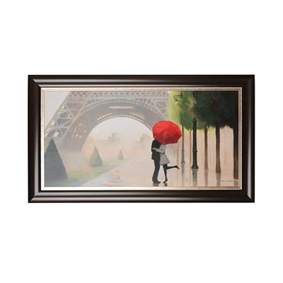 Parisian Romance Framed Art Print
