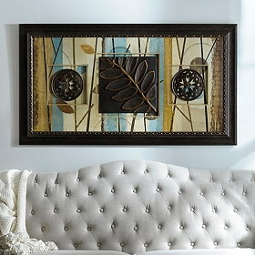 Blue Modern Forest Shadowbox