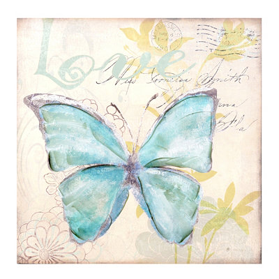 Butterfly Love Canvas Art Print