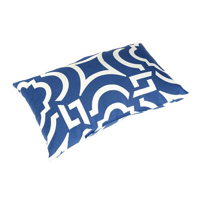 Navy Paros Outdoor Lumbar Pillow
