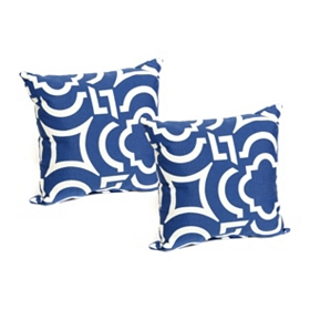 Navy Paros Outdoor Accent Pillow, Set of 2