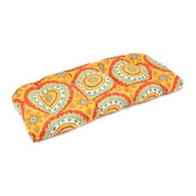 Sunset Plaza Outdoor Settee Cushion
