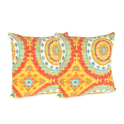 Sunset Plaza Outdoor Accent Pillows, Set of 2