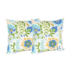 Opal Bloom Outdoor Accent Pillows, Set of 2
