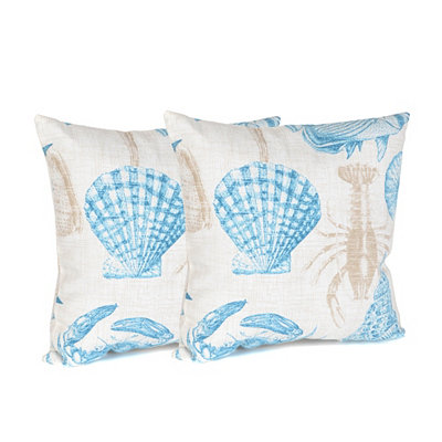 Turquoise Marina Outdoor Accent Pillows, Set of 2