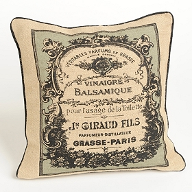 Vintage Label Accent Pillows