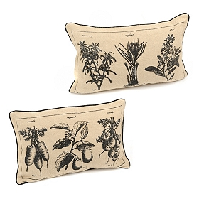 Vintage Botanical Accent Pillows
