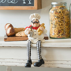 Chef with Bread Shelf Sitter