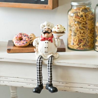 Chef with Cake Shelf Sitter
