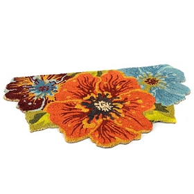 Colorful Floral Doormat