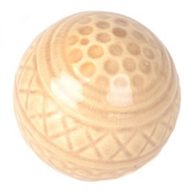 Tan Embossed Ceramic Orb
