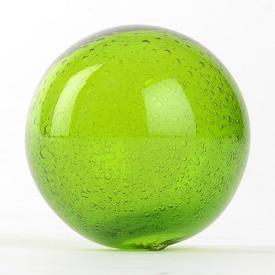 Green Mouth Blown Glass Orb