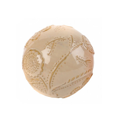 Cream Cottage Ceramic Orb