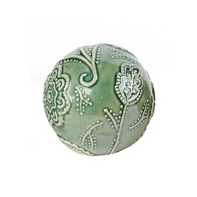 Green Cottage Ceramic Orb