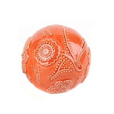 Red Cottage Ceramic Orb