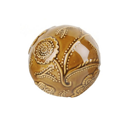 Brown Cottage Ceramic Orb