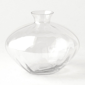Clear Luster Glass Vase