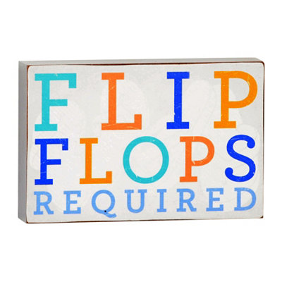 Flip Flops Required Plaque