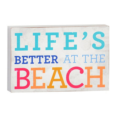 Life at the Beach Plaque
