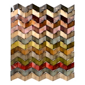 Chevron Madness Metal Wall Plaque