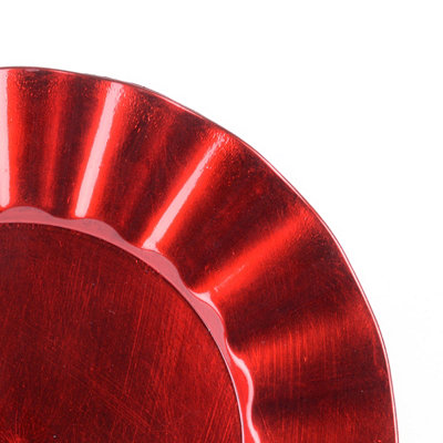 Ruffled Red Charger Plate