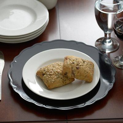 Black Regency Charger Plate