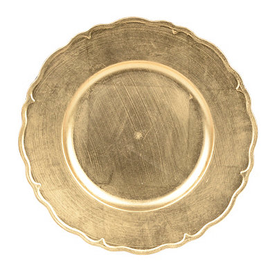 Gold Regency Charger Plate