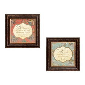 Inspirational Jeweled Framed Art Print, Set of 2