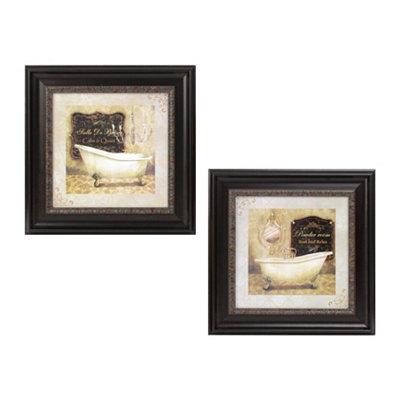 French Bath Framed Art Print, Set of 2