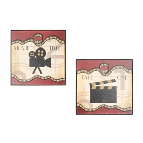 Media Elements I Wall Plaque, Set of 2