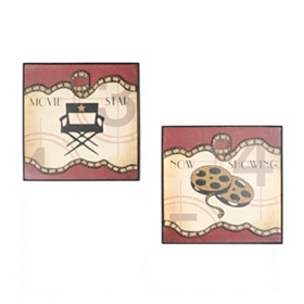 Media Elements II Wall Plaque, Set of 2