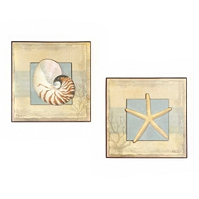 Coastal Calm Wall Plaque, Set of 2