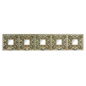 Mirrored Cathedral Tile Candle Holder